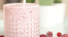 Smoothie met cranberry en banaan