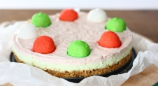 No-bake marshmallow cheesecake