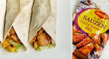 Wraps met sticky sweet BBQ kip
